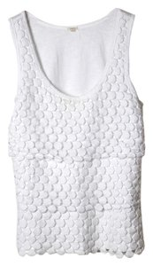 J.Crew Stretch Knit Sleeveless Top White