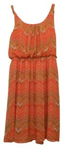 AGB short dress Orange and multi colors on Tradesy