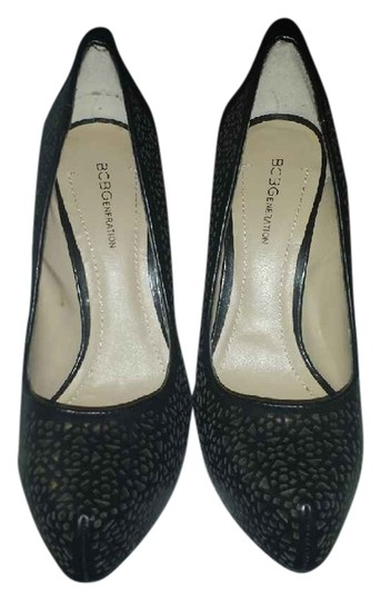 BCBGeneration Black with Gold Accents Pumps