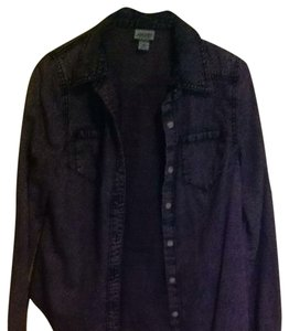 Mossimo Supply Co Button Down Shirt Faded Purple