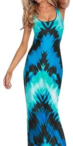 Blue multi Maxi Dress by VENUS