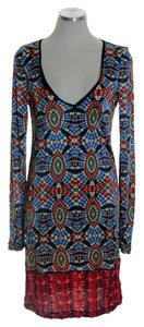 Custo Barcelona short dress Multicolor Knit Stretchy Printed on Tradesy