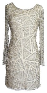 Naeem Khan Diamante Beaded Knee Length Dress