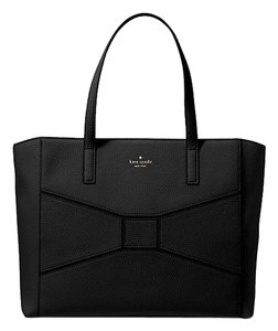 Kate Spade New Leather Satchel Tote in Black - NWT