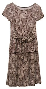 perceptions new york short dress brown/tan on Tradesy