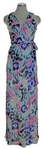 Multicolor Maxi Dress by Sweet Pea by Stacy Frati Printed Knit Stretchy Sleeveless