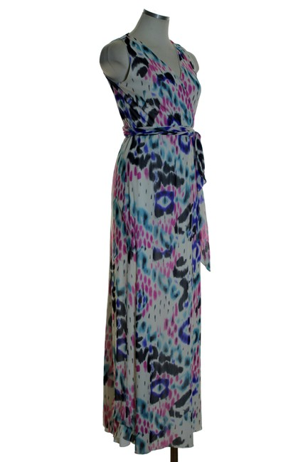 Multicolor Maxi Dress by Sweet Pea by Stacy Frati Printed Knit Stretchy Sleeveless Image 1