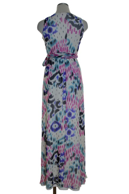 Multicolor Maxi Dress by Sweet Pea by Stacy Frati Printed Knit Stretchy Sleeveless Image 2