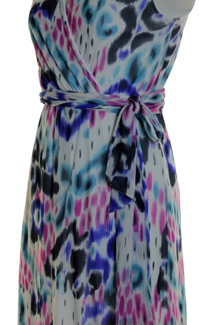 Multicolor Maxi Dress by Sweet Pea by Stacy Frati Printed Knit Stretchy Sleeveless Image 3