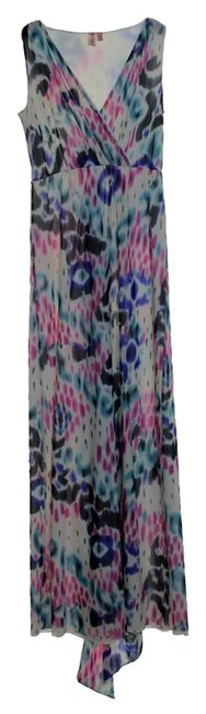 Multicolor Maxi Dress by Sweet Pea by Stacy Frati Printed Knit Stretchy Sleeveless Image 5