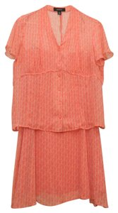 Jones Wear short dress coral and white on Tradesy