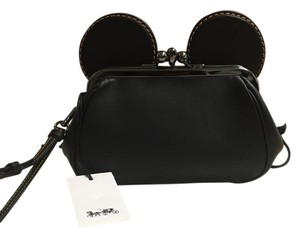 Coach Mickey Kisslock Disney Wristlet in Black