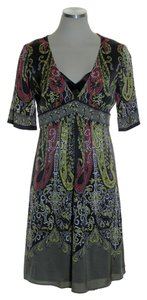 Elie Tahari short dress Multicolor Silk Paisley Short Sleeve on Tradesy