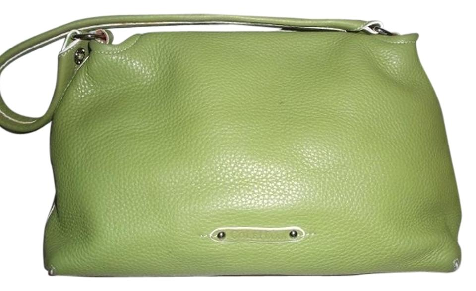 0812ce4341 Cole Haan Pebble Green Leather Shoulder Bag - Tradesy