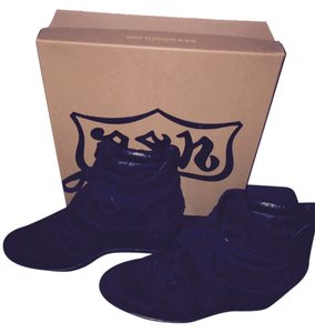 1e00e64101f7 Ash Casual Suede Sporty Black Wedges