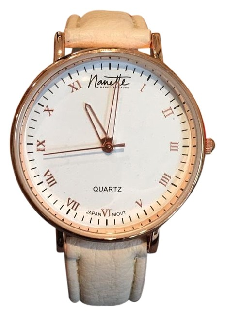 Item - Rose Gold with Nude Leather Strap Watch