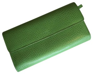 Lodis Lodis Audrey Checkbook Wallet in LIMITED EDITION Green Leather