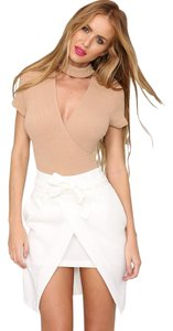 Hello Molly Night Out High Wasted Mini Skirt Mocha