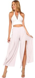 Hello Molly High Wasted Night Out Flare Pants Grey