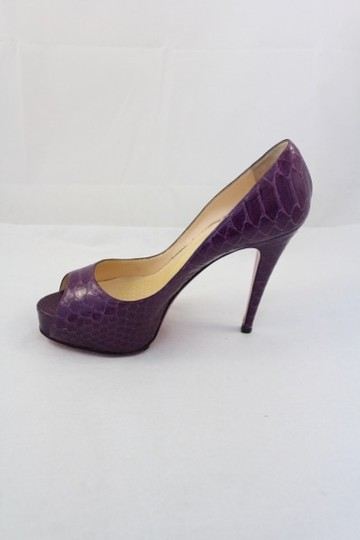 Christian Louboutin Hyper Prive Purple Snakeskin Amethyste Pumps