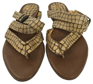 Just Cavalli Sandal Summer Designer Bronze TAN Flats