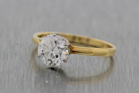 Tiffany & Co. Gold Co 1.09ct Trans Brilliant Diamond Yellow Engagement Ring