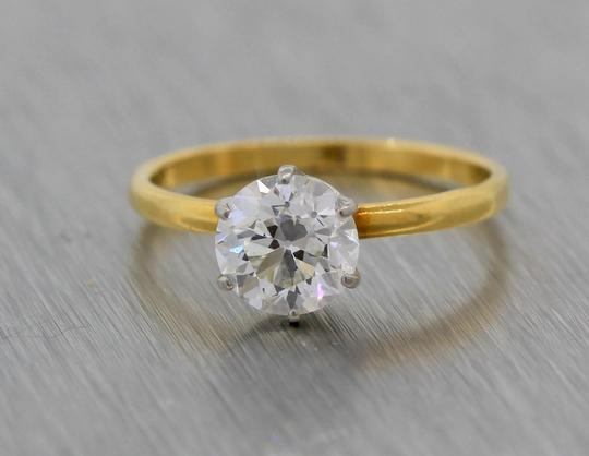 Tiffany & Co. Gold Co 1.09ct Trans Brilliant Diamond Yellow Engagement Ring Image 4