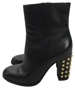 MICHAEL Michael Kors Bootie Leather Rose Fall BLACK/ GOLD Boots