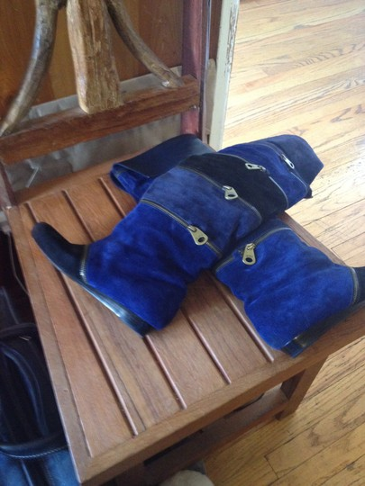 Marc Jacobs Navy Blue/Black Boots