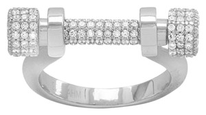 Other (New) Rhodium Plated Signity CZ Barbell Ring