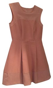 J.Crew short dress pink A-line Sleeveless Perforated on Tradesy