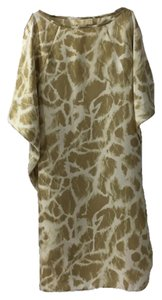 MICHAEL Michael Kors short dress TAN/ CREAM Silk Print Shift on Tradesy