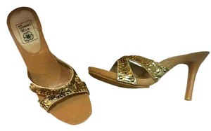 Summer Rio gold Mules