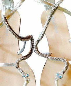 Michael Antonio Metallic Silver Sandals