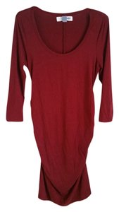 Old Navy Maternity Garnet Scoop Neck Midi Dress