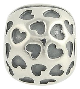PANDORA Pandora Bead Charm Sterling Silver 791037 Showered With Love Retired Hearts