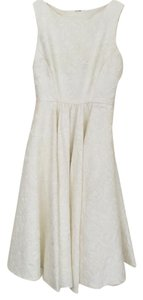 Badgley Mischka Party Knee Length Cream Dress
