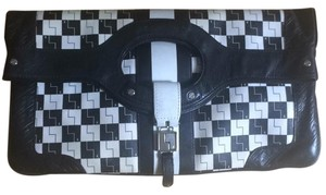 L.A.M.B. Black and white Clutch