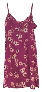 American Eagle Outfitters short dress Purple with floral pattern on Tradesy