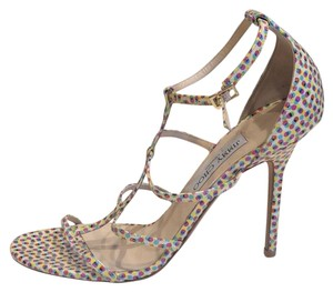 Jimmy Choo Strappy Pink Special Edition Sandals polka dot Pumps