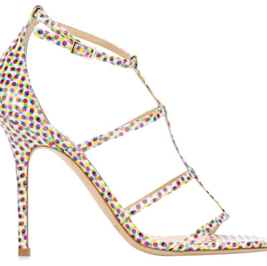 Jimmy Choo Strappy Pink Special Edition Sandals polka dot Pumps Image 1