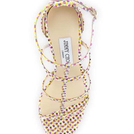 Jimmy Choo Strappy Pink Special Edition Sandals polka dot Pumps Image 2