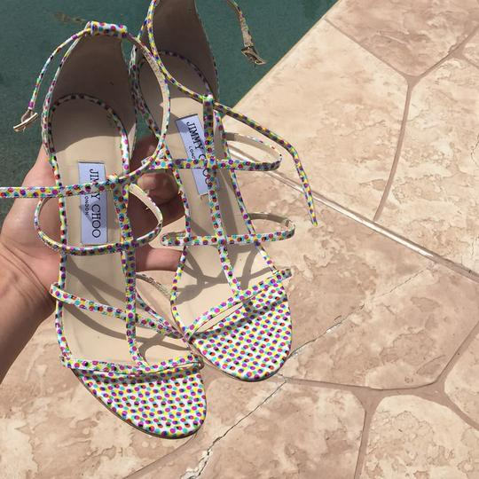 Jimmy Choo Strappy Pink Special Edition Sandals polka dot Pumps Image 6