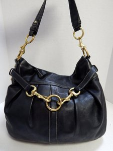 Coach 8b15 Leather Hobo Bag