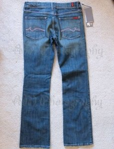 7 For All Mankind Bnk Bangkok Petite Rocker Boot Cut Jeans-Medium Wash