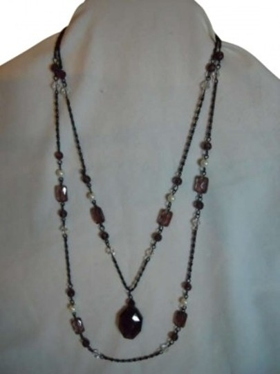 Preload https://item4.tradesy.com/images/premier-designs-double-chain-pendant-necklace-182888-0-0.jpg?width=440&height=440