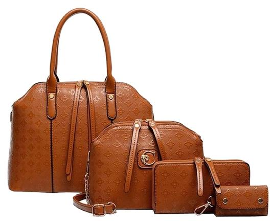 Preload https://img-static.tradesy.com/item/18288907/-and-other-stories-women-4-pieces-leatherette-handbags-clutches-blackrhombus-brown-shoulder-bag-0-1-540-540.jpg