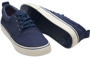 TOMS Valdez Sneaker Navy Cotton Twill Athletic
