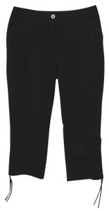 Chico's Cargo Crop Pants Capris Black