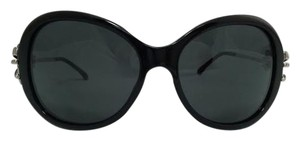 Chanel Chanel Oversized Silver and Black Bow Sunglasses 5178 C501/3F